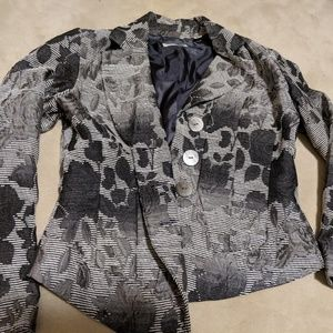 Black/ white Coldwater blazer